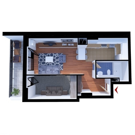 Apartments with 1 room B2