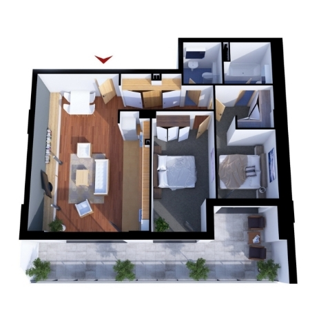 Apartments with 3 rooms C