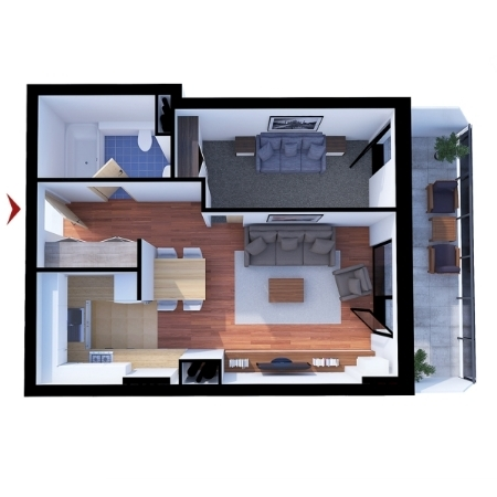 Apartments with 1 room B1
